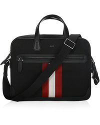 Bally Chandos Nylon Business Bag - Black