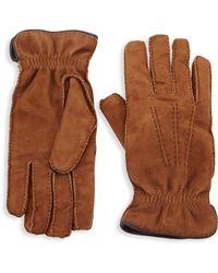Brunello Cucinelli - Suede & Cashmere Gloves - Lyst