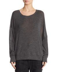 Vince   Drop Shoulder Wool Sweater   Lyst