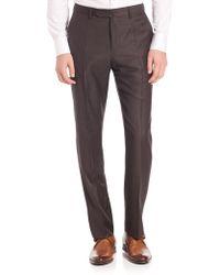 Incotex - Men's Benson Sharkskin Dress Pants - Light Grey - Lyst