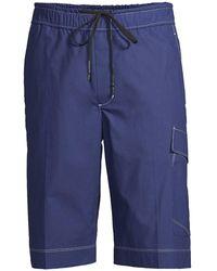 3.1 Phillip Lim Drawstring Cargo Shorts - Blue
