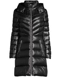 Mackage Lara Lightweight Down Coat With Removable Hood In Black - Women