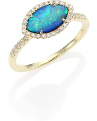 Meira T - Opal, Diamond & 14k Yellow Gold Marquise Ring - Lyst