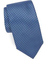 Corneliani - Bullseye-print Silk Tie - Lyst