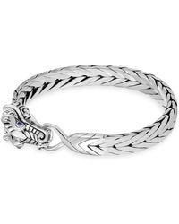 John Hardy - Naga Woven Silver Dragon Bracelet - Lyst