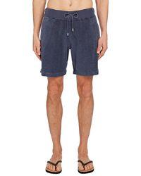 Orlebar Brown Afador Terry Cloth Shorts - Blue