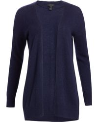5882f81964 Saks Fifth Avenue - Women s Collection Featherweight Cashmere Cardigan -  Pale Grey Heather - Lyst