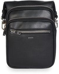 Amiri Leather Hip Pouch - Black