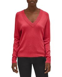 Equipment Madalene Cashmere V-neck Sweater - Red