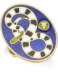 Holly Dyment - Peridot 18k Yellow Gold Snake Ring - Lyst