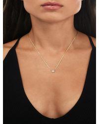 Lana Jewelry Malibu 14k Gold & Diamond Petite Disc Necklace - Yellow