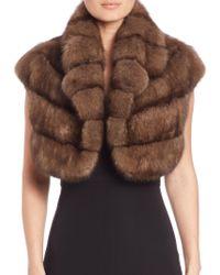 Saks Fifth Avenue - Cropped Sable Fur Vest - Lyst
