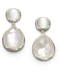 Ippolita - Wonderland Mother-of-pearl, Clear Quartz & Sterling Silver Snowman Doublet Drop Earrings - Lyst