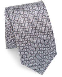Isaia Interlock Metal Dot Silk Tie - Multicolor