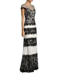 Tadashi Shoji - Striped Lace Gown - Lyst