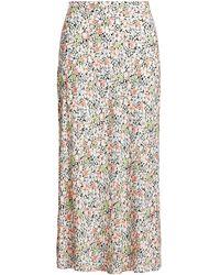 Polo Ralph Lauren Floral Crepe Maxi Skirt - Multicolor