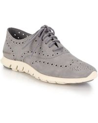 Cole Haan - Zerogrand Suede Oxford Sneakers - Lyst