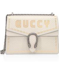 Gucci Borsa Dionysus Sega® Print Shoulder Bag - White