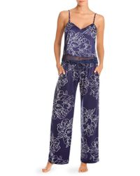 In Bloom - Two-piece Floral Pyjama Set - Lyst