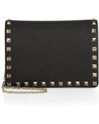 Valentino - Small Rockstud Leather Shoulder Bag - Lyst
