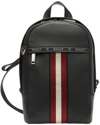 Bally High Point Leather Sling Backpack - Black