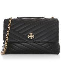 Tory Burch Kira Chevron Small Convertible Shoulder Bag - Black