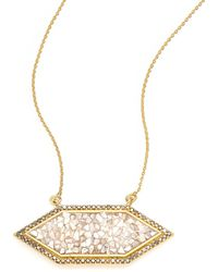 Shana Gulati - Charushila Shashi Black Diamond Pendant Necklace - Lyst