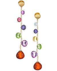 Marco Bicego - Paradise Drop Earrings With Mixed Gemstones - Lyst