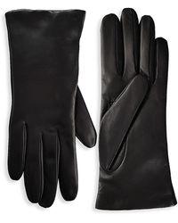 Saks Fifth Avenue Leather Gloves - Black
