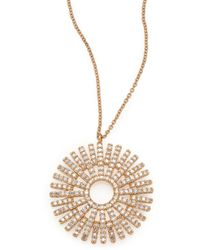 Astley Clarke | Rising Sun Diamond & 14k Yellow Gold Pendant Necklace | Lyst