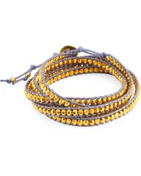 Chan Luu Yellow Gold Wrap Bracelet - Metallic