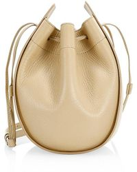 The Row Suede Drawstring Pouch - Natural