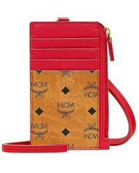 MCM From The Visetos Original Collection. Lanyard Card Case - Multicolor