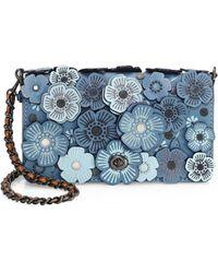 COACH - 1941 Tea Rose Applique Leather Crossbody Bag - Lyst