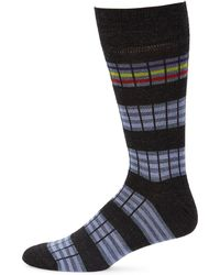 Saks Fifth Avenue - Collection Six Color Stripe Dress Socks - Lyst