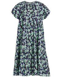 Merlette - Alegre Floral Print Tulp-sleeve Trapeze Dress - Lyst