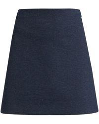 Theory Denim Stretch-kint A-line Mini Skirt - Blue