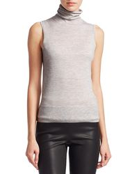 Saks Fifth Avenue Collection Cashmere Turtleneck Shell - Multicolor