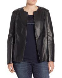 Marina Rinaldi Eden Nappa Leather Jacket - Black