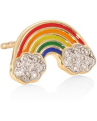 Sydney Evan - Rainbow Diamond Single Stud Earring - Lyst