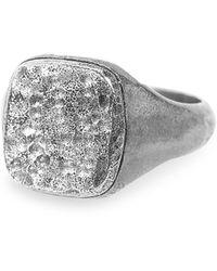 John Varvatos Artisan Metals Sterling Silver Signet Ring - Metallic
