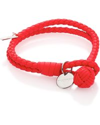 Bottega Veneta - Intrecciato Leather Double-row Wrap Bracelet - Lyst