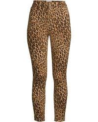 FRAME - Women's Ali High-rise Cigarette Trousers - Camel Multi - Size 26 (2-4) - Lyst