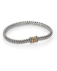 John Hardy - Dot 18k Yellow Gold & Sterling Silver Chain Bracelet - Lyst