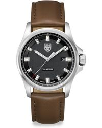 Luminox - Illuminated 24/7 Collection Leather-strap Watch - Lyst