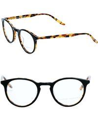 Barton Perreira Princeton Amber Tortoise 46mm Optical Glasses - Multicolor