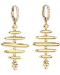 Temple St. Clair - 18k Gold & Diamond Large Hive Earrings - Lyst