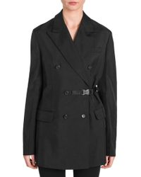Prada - Technical Twill Double-breasted Jacket - Lyst