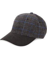 Block Headwear - Plaid Faux Suede Hat - Lyst