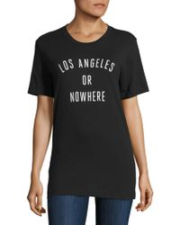 Knowlita - Los Angeles Or Nowhere Cotton Graphic Tee - Lyst